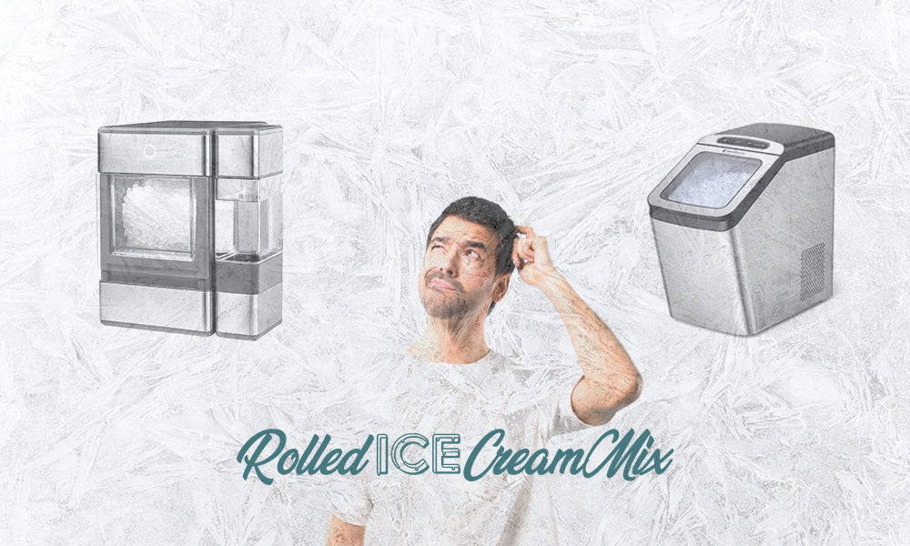 Man thinking what nugget ice maker to buy